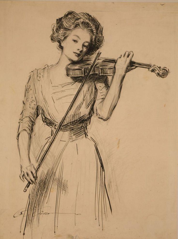 черно белые картинки со скрипкой уже писали