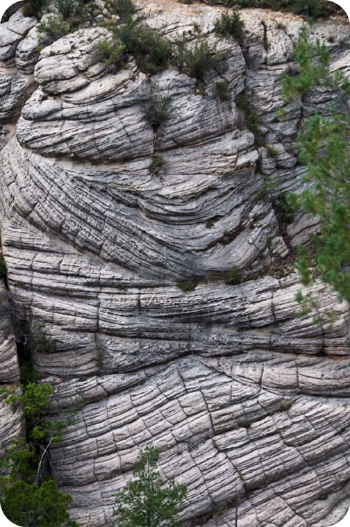 What is the history of this rock face?  http://www.ck12.org/concept/Weathering-and-Erosion/ #CK12 #Erosion
