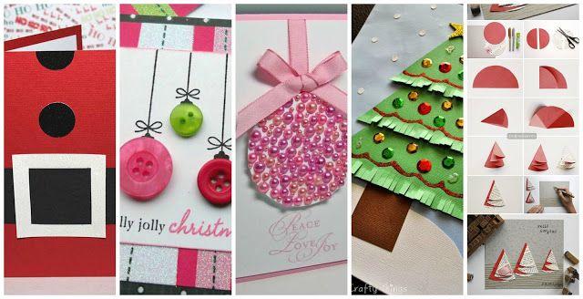 Reciclando con Erika : 7 tarjetas de Navidad y 3 vídeos tutoriales