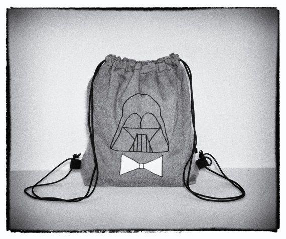 Darth Vader denim sack bag  FREE SHIPPING by PurpleTurtleBag