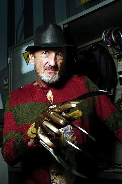Robert Englund as Freddy Krueger (lovely man in real life.)