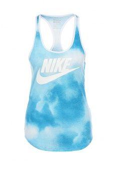 Майка спортивная Nike, цвет: синий. Артикул: NI464EWDRU66. Женская одежда