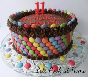 Cake Decorating Ideas With Smarties : 101 best images about Smarties cake on Pinterest