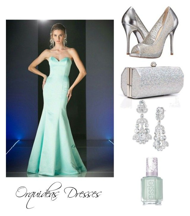 """""""Fiesta menta"""" by myheartcol on Polyvore featuring Kristin Cavallari, J. Furmani, Givenchy and Essie"""