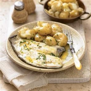 Plaice with lemon parsley butter and crushed potatoes Recipe   delicious. Magazine free recipes