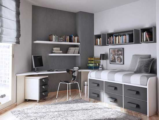 modern and chic - teen room/short on space
