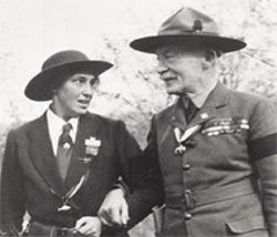 Both of them had the same birthday. Lord Robert Baden Powell was born in England on 22 February 1857.