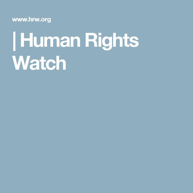 | Human Rights Watch