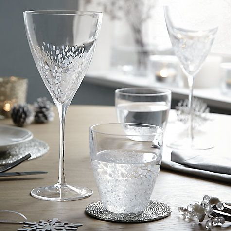 Beautiful festive water and wine glasses from John Lewis