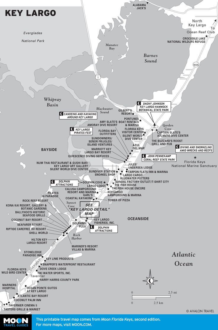Map of Key Largo, Florida