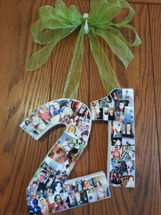 21st Birthday picture wreath