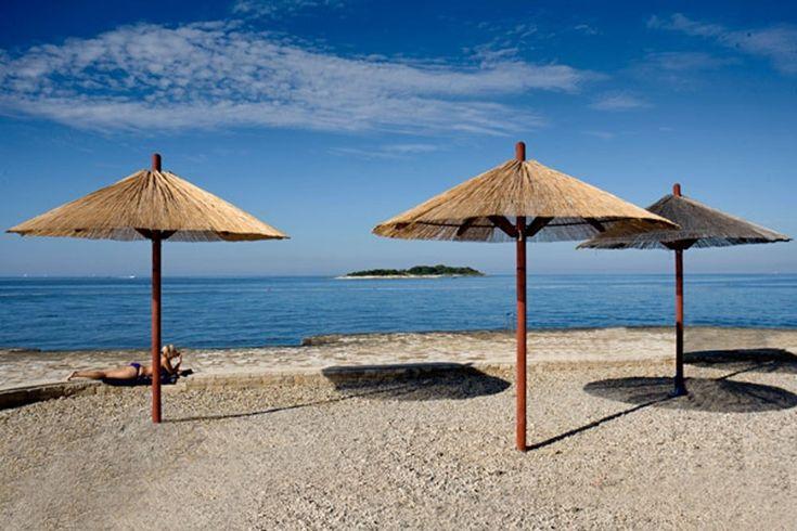 Porec, strand , Isztria