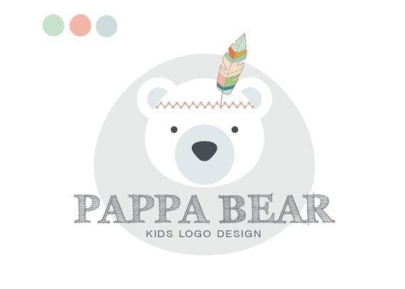 Premade Kids logo Bear Logo Design for your by MelimeDesignStudio
