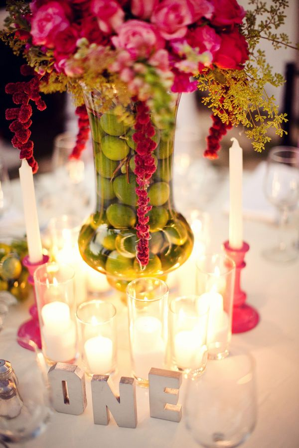 Puerto Vallarta Wedding By Elizabeth Lloyd The Dazzling Details Lime CenterpiecePink