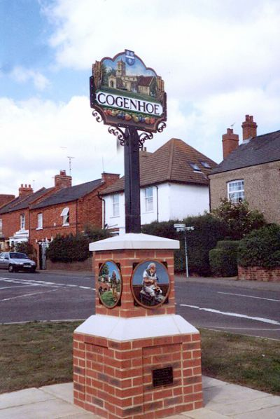 ENGLISH VILLAGE SIGNS | Cogenhoe, Northamptonshire.