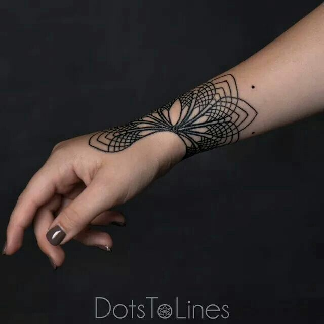 Dots to Lines Tattoo