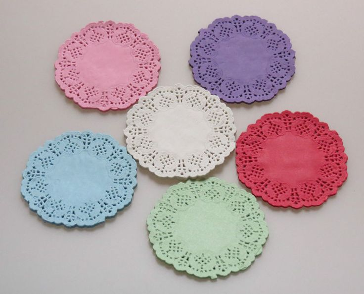 Paper Lace Doilies 3.5  4.5  5.5  colour Wedding Craft Scrapbooking Party Cake