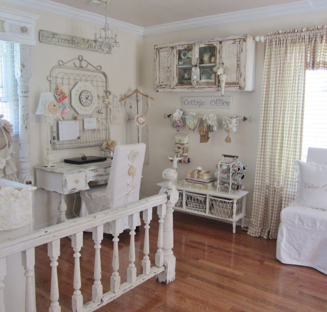 21 Shabby Chic Home Office Designs Decorating Ideas: 96 Best Shabby Chic Home Office Images On Pinterest