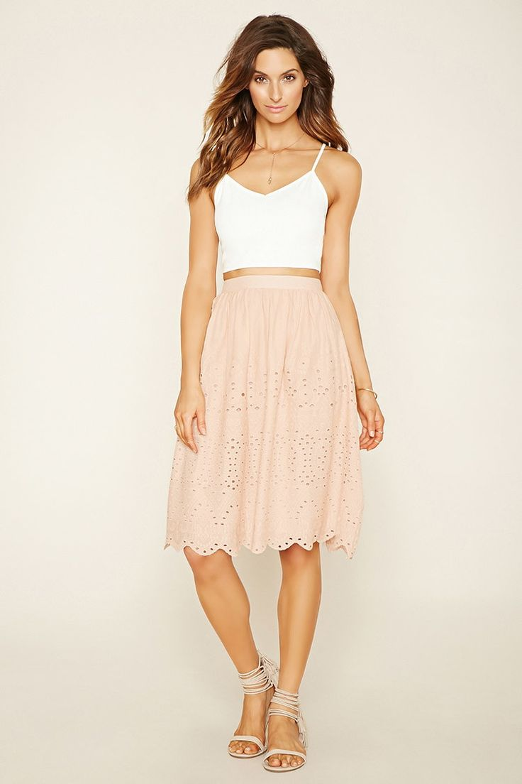 Contemporary Eyelet Skirt | Forever 21 - 2000169991