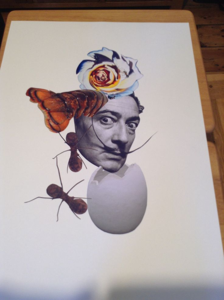 Portfolio sheet as part of my college project about Dali and the meaning of his symbols