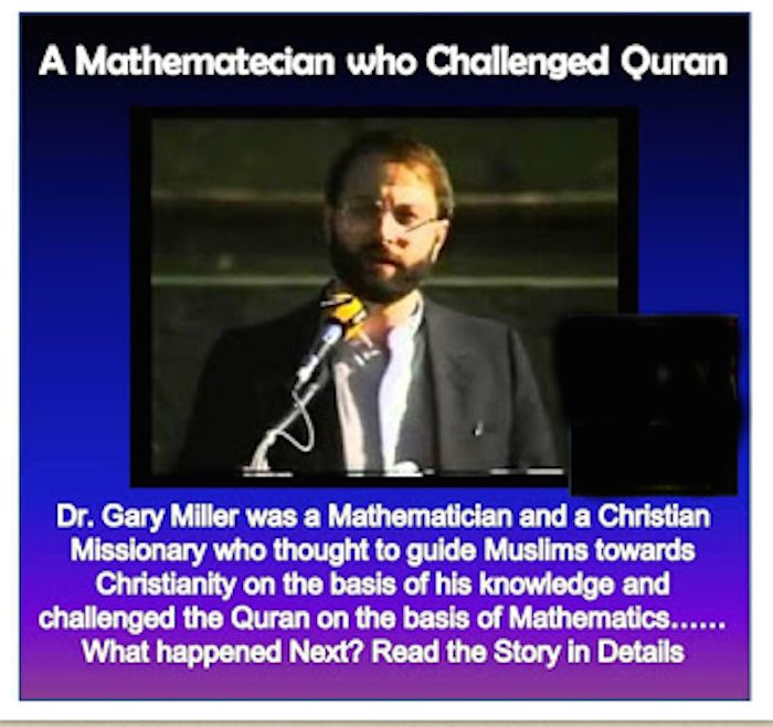 A mathematician who challenged a Quran...