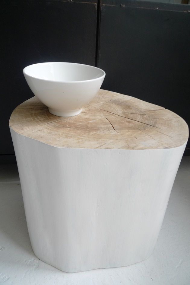 tree stump table - all natural
