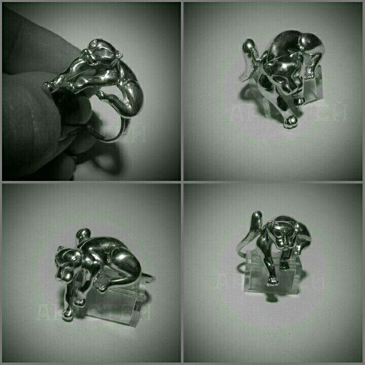 ring Panther test silver 925
