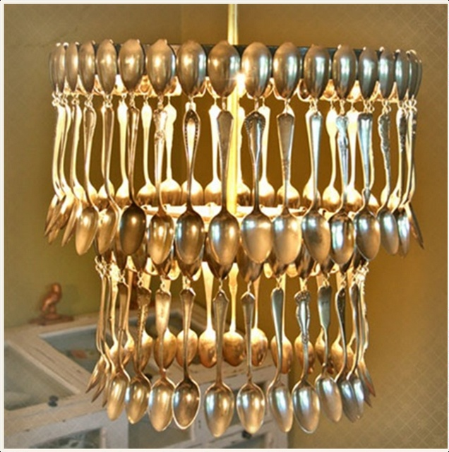 vintage spoon chandelier oh my gosh this reminds me of