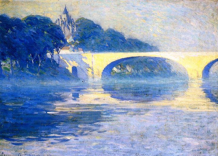 The Athenaeum - Early Morning Mist, Pont-de-lArche (Clarence Gagnon - 1909)