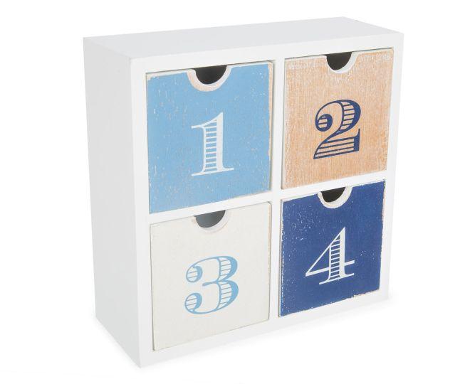 CatchOfTheDay.com.au | Four Drawer Wooden Storage Box