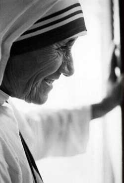 Inspirational mother, and she called by Mother Theresa