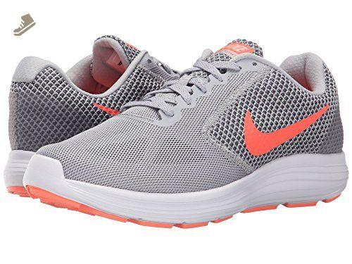 Nike Women's Revolution 3 Running Shoe, Wolf Grey/Hyper Orange/Cool Grey,