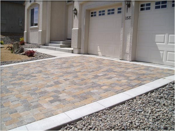 012 Pavers With Cement Border Backyard Landscaping