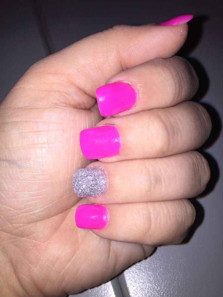 Cranberry Glitter & Silver NexGen nails | Love Nail Polish