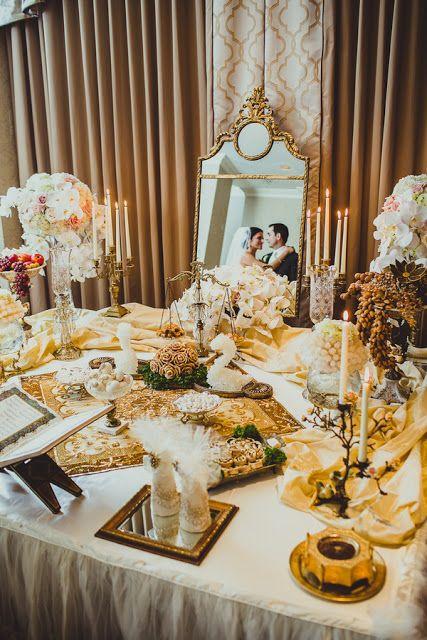 elaborate sofreh aghd for persian wedding ceremony / Koru Wedding Style: {Glamorous San Francisco Wedding} Anahita & Mehndi