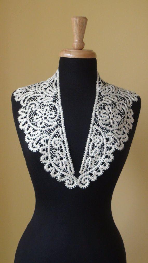 Bobbin Lace Collar by HandyMaria on Etsy, $49.00