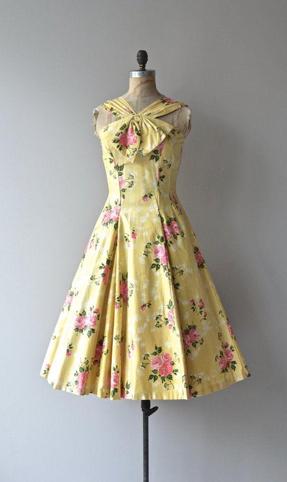 Summer Folly dress vintage 1950s dress cotton 50s by DearGolden