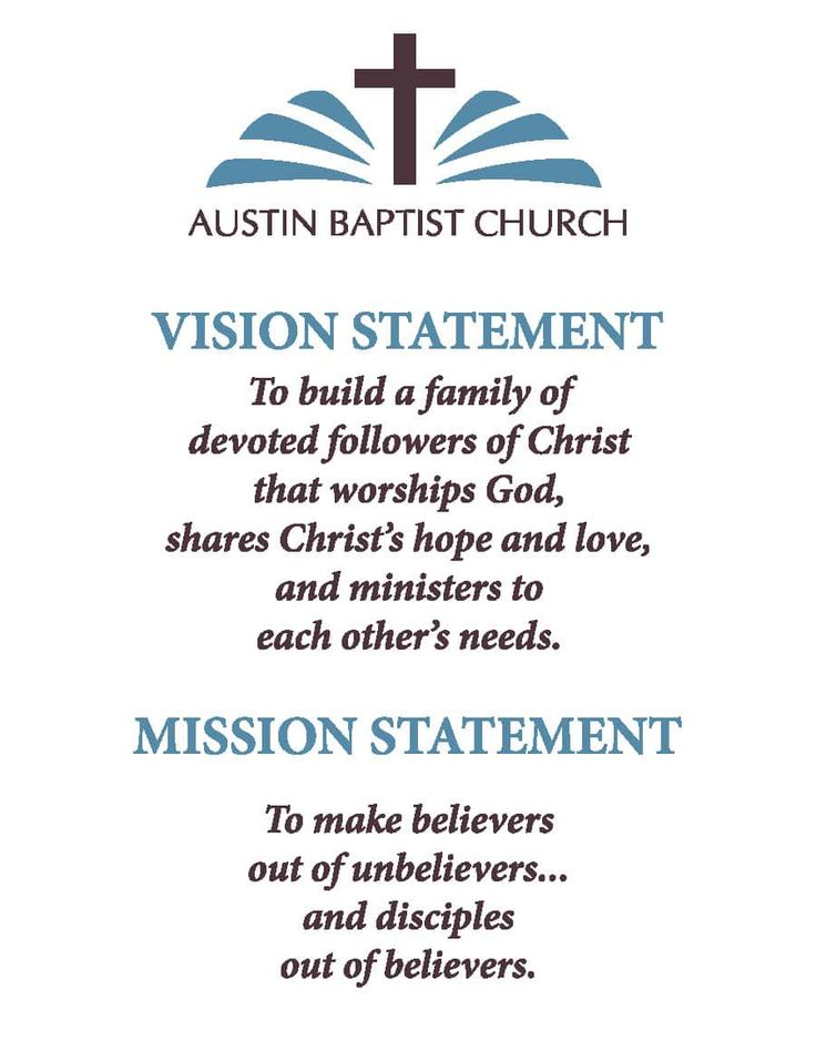 Examples of Christian Mission Statements Mission