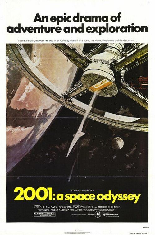 """MP295. """"2001: A Space Odyssey"""" Movie Poster by Robert McCall (Stanley Kubrick 1968) / #Movieposter"""