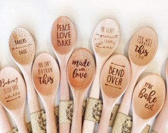 Funny wooden spoons