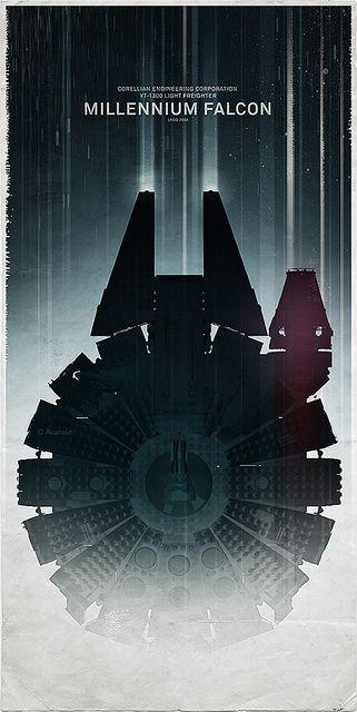 Star Wars - Millennium Falcon   #starwars #spaceship #design