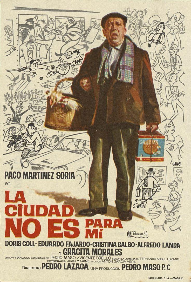 351.     JANO. La ciudad no es para mí. Dirigida por Pedro Lazaga. Madrid: Edicolor, [1966].  #ProgramasdeMano #BbtkULL #CineEspañol #DiadelLibro2014