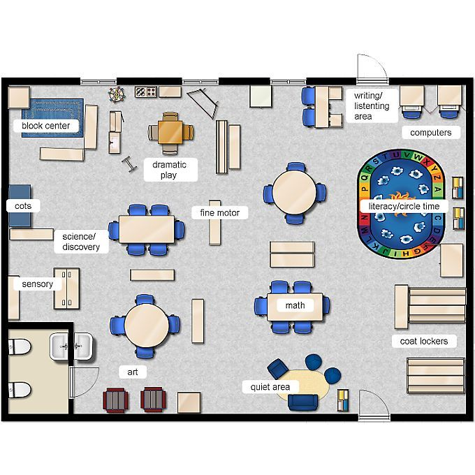 Ps Learning Classroom Layout on Daycare Center Floor Plan Layout Samples