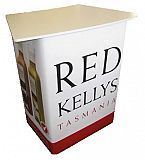 Curved top portable counter in white for Red Kellys
