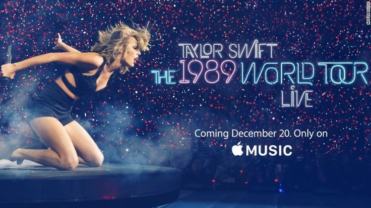 "Apple Music will exclusively debut ""The 1989 World Tour Live,"" which includes footage from Taylor Swift's tour, on December 20."