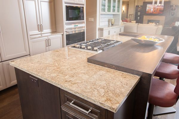 I Love This Combination Of Cambria And Wood Counter Tops