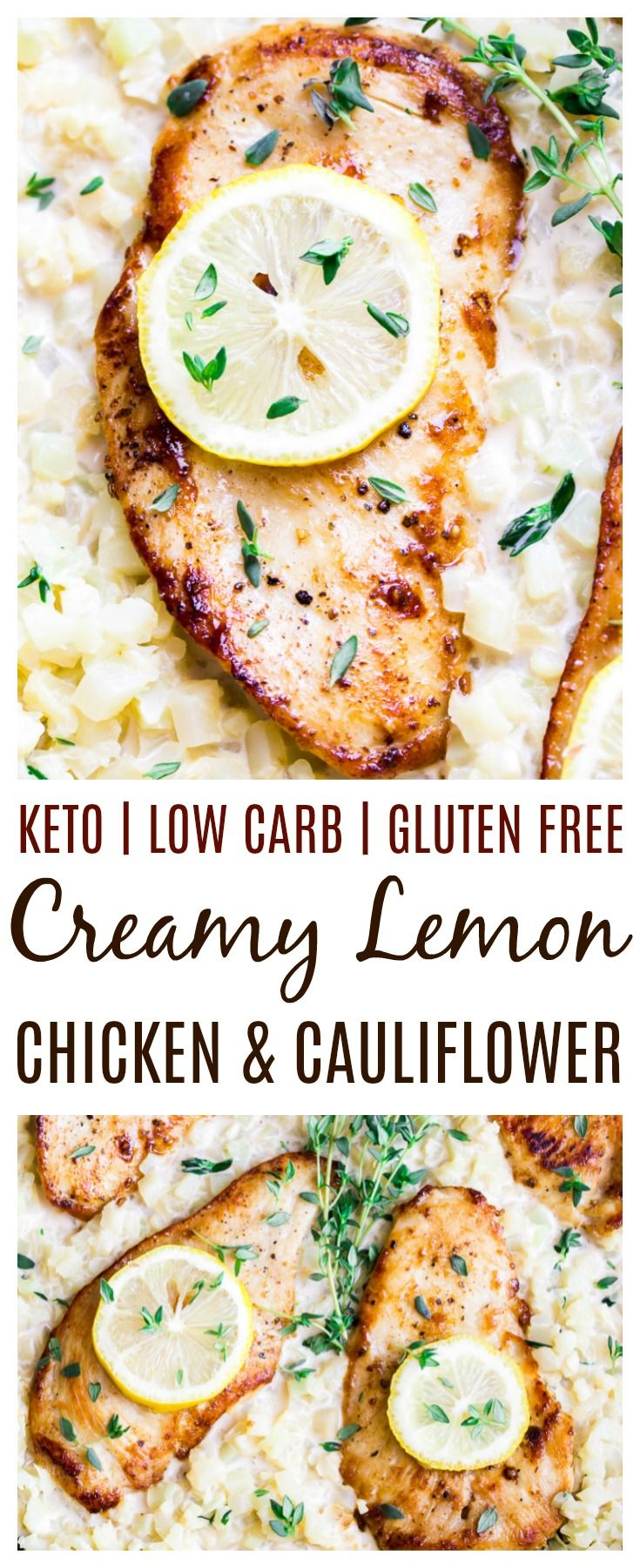 Skillet Creamy Lemon Chicken With Cauliflower A Delicious Low