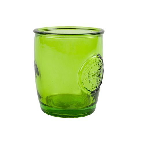 Authentic Recycled Green Glass Tumbler 450ml Green Kitchen Accessoriestumblersdrinkwarehome
