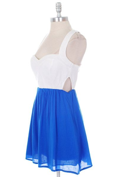 cute+dresses+for+juniors | Cute Trendy Clothes on Blue White Bustier Dress