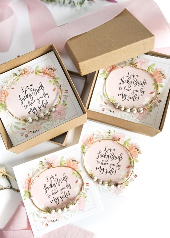 Bridesmaid Bracelet Wedding Gift Favors Bridesmaid Proposal Box Wedding Favors